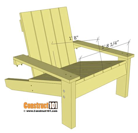 simple wooden chair plans simple adirondack chair plans diy step by step project