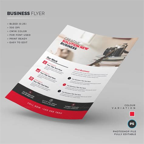 psd business flyer 000233 template catalog