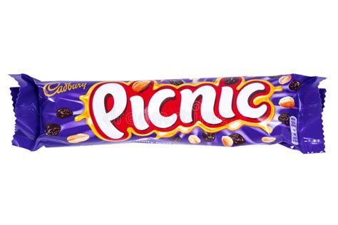 Cadbury Picnic Bar cadbury picnic chocolate bar editorial photo image of