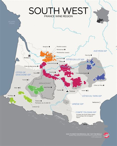 Vine West the wines of south west map wine folly