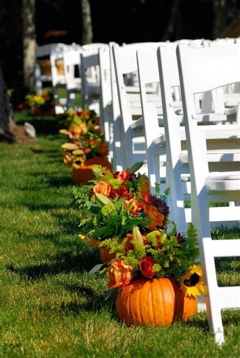 diy fall wedding reception decorations 57 fall wedding aisle decor ideas happywedd