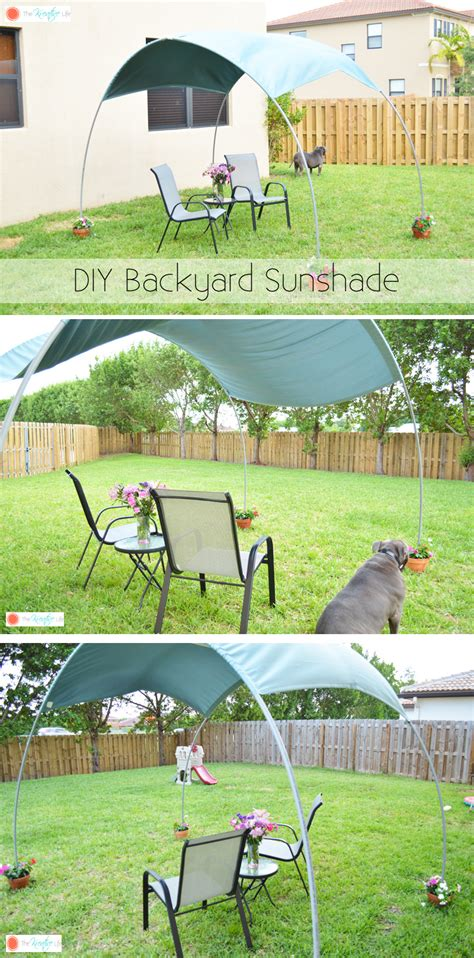 diy backyard sunshade the kreative