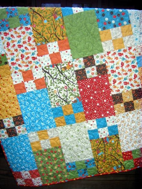 Quarter Quilt Patterns Baby Quilt by Quilt Pattern 5 Sizes Baby To King Quarter