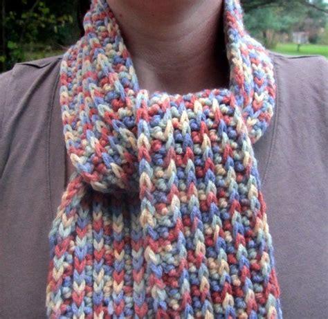 variegated yarn pattern crochet crocheted scarf variegated yarn by jnkcreative on etsy