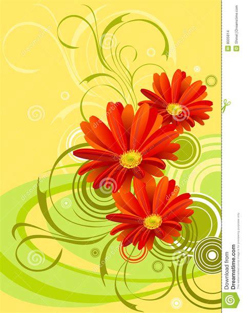 Gerbera Designs Xl Messenger by Gerbera Flower Background Design Stock Vector Image 8005814