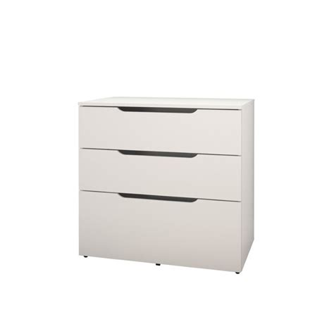 filing cabinet in white and melamine with 3 drawers 600303