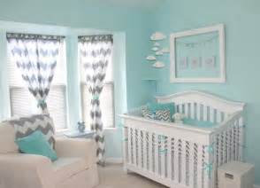 Baby Boy Nursery Curtains Aqua And Gray Chevron Nursery Project Nursery