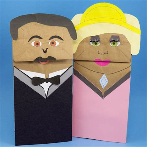 How To Make A Puppet Paper - paper bag puppet person www pixshark images