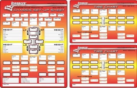 northeast race cars parts longacre chassis setup sheets