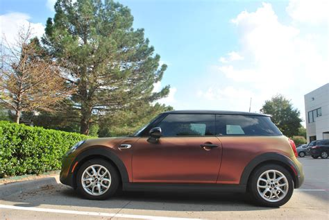mini cooper color change wrapped with colorflow vinyl