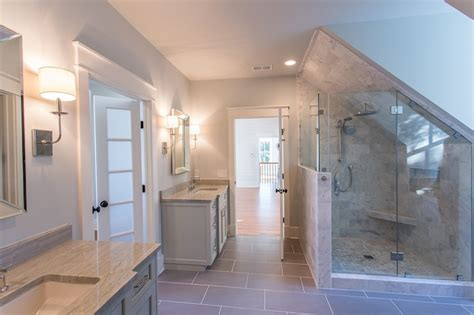 Bathrooms Remodel Ideas by Dormer Shower Transitional Bathroom Jacksonbuilt Custom Homes