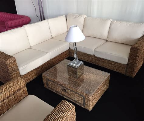 wicker sectional sofa indoor rattan indoor sofa banana abaca rattan sofa with