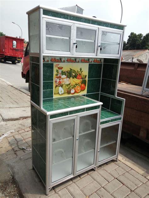Rak Piring Murah Bogor jual lemari rak piring 3 tiga pintu aluminium