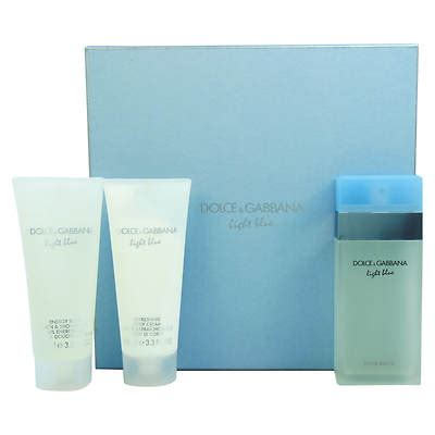 dolce and gabbana light blue gift set for light blue by dolce gabbana for 3 gift set