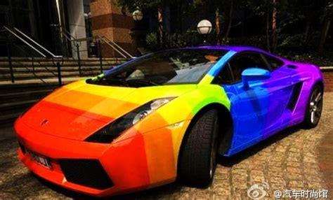 rainbow lamborghini 中華車庫 china garage we just love cars rainbow lamborghini