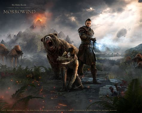 eso wallpaper 4k download the new eso morrowind hero art wallpaper the