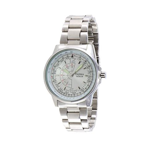 Jam Tangan Pria Tajima harga tajima jam tangan pria silver stainless steel 3061