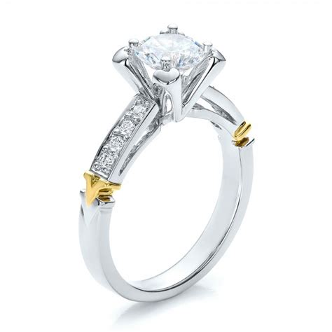 two tone gold and engagement ring vanna k 100482
