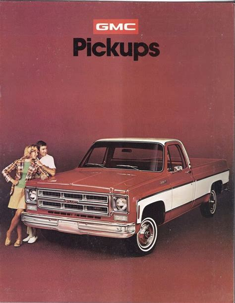 1975 gmc truck 1975 gmc trucks gm brochures mostly chevy