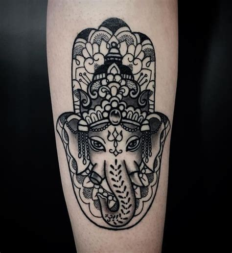 elephant hamsa tattoo hamsa designs of fatima meaning