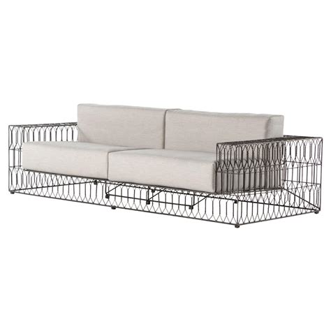 metal outdoor sofa breton black metal sofa metals and