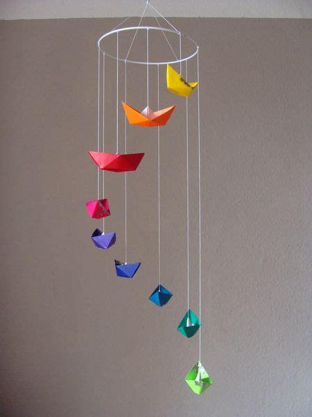 Origami Mobiles - mobile origami boote bunt glitter