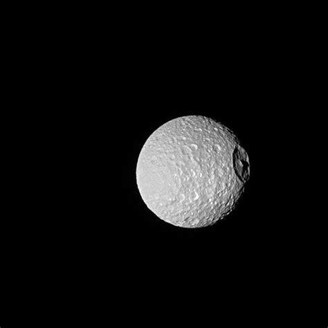 saturn moon mimas saturn moon looks like wars in nasa