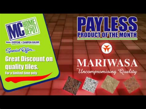 mc home depot pay less product of the month mariwasa