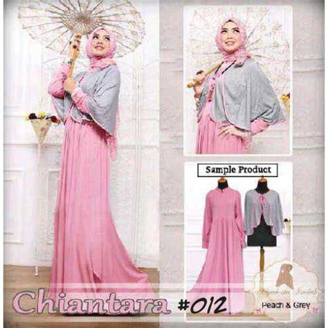 Baju Busana Muslim Untuk Pesta Iska Cape Maxi Dress baju muslim modern chiantara a012 model gamis pesta