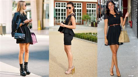 un da negro en c 243 mo combinar un vestido negro