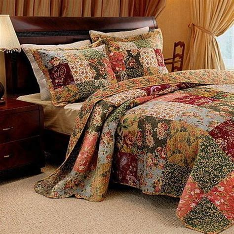 Patchwork Quilt Bedding - country patchwork quilt bedspread set oversized 120