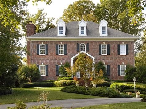 colonial brick homes brick federal style colonial home georgian homes pinterest
