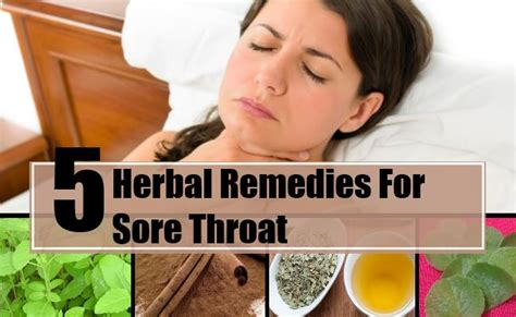 best herbal remedies for sore throat how to treat sore