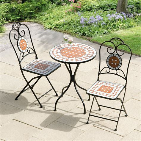 mosaic outdoor table set transcontinental outdoor mosaic patio bistro set