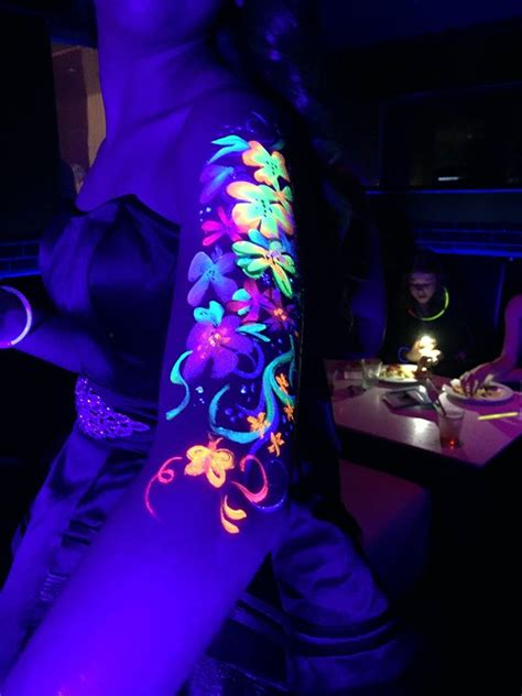 glow in the dark face tattoo face painters sheroes entertainment 805 328 4911
