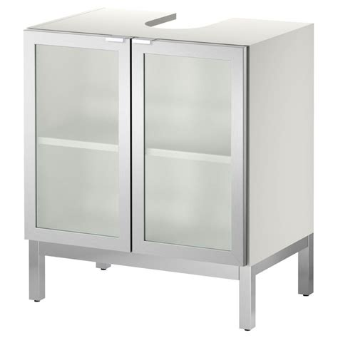 Pedestal Sink Storage Ikea | lill 197 ngen sink base cabinet with 2 door aluminum ikea