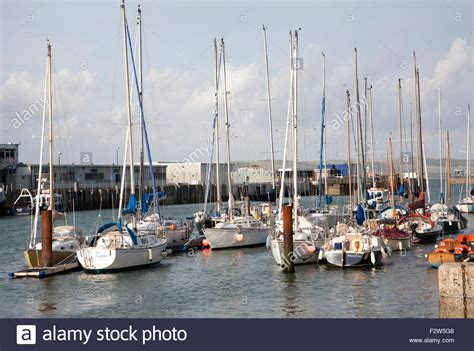 boat mooring dorset weymouth harbour dorset harbor stock photos weymouth