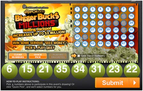 Lotto Pch Com Pick Winning Numbers - pchlotto bing images