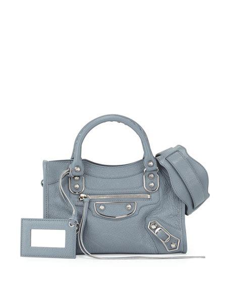 Balenciaga Mini City Edge Blue Nuit Not Payment balenciaga edge city mini goatskin satchel bag icy blue