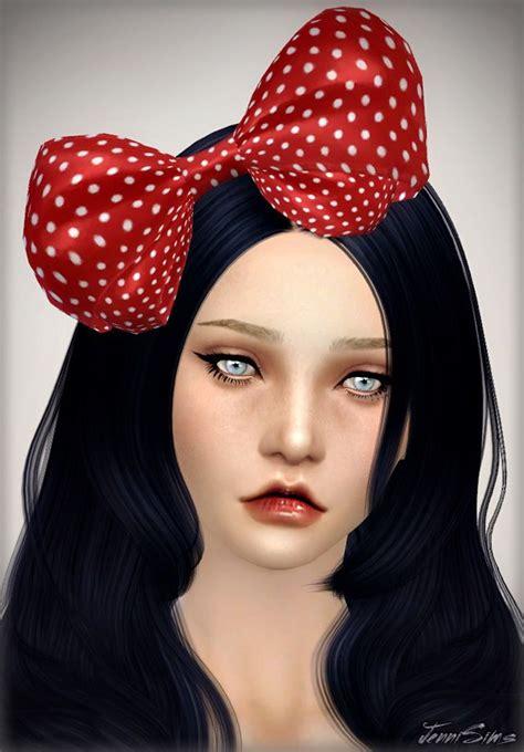 jenni sims new mesh accessory sets bow heart breaker sims 4 cc hair bows hair bow sims 4 custom content sims