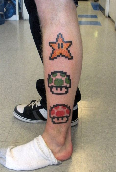 mario star tattoo mario and tattoos tattoos