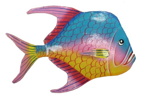 fish wall decorations look fuchsia fin tropical fish haitian metal wall