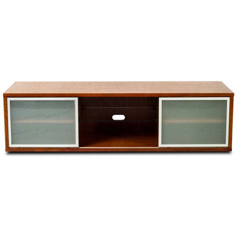 Walnut Tv Cabinet With Doors Plateau Sr Series Retro Tv Cabinet With Glass Doors For 48