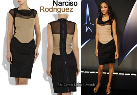 Who Wore Narciso Rodriguez Better Sevigny Or Amanda Bynes by In Zoe Saldana S Closet Narciso Rodriguez Two Tone