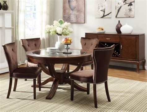 round wood dining room table sets round vintage glass top dining tables with wood base and