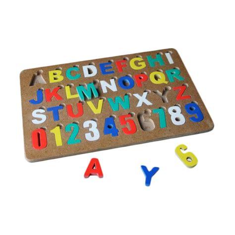 Alfabet Dan Angka jual mainan edukasi puzzle alphabet angka huruf besar