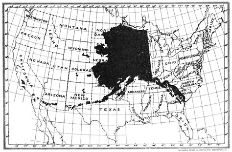 alaska map compared to us file psm v62 d189 map of alaska compared to the lower us