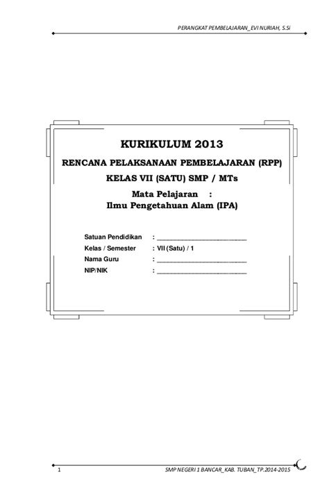 Explore Ipa Untuk Smp Mts Kelas 7 Kur 2013 Revisi rpp kurikulum 2013 ipa smp kelas 7 semester 1