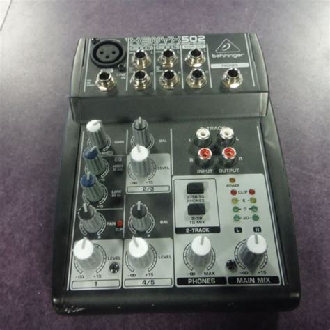 Murah Mixer Behringer Xenyx 502 4 Channel used behringer xenyx 502 5 channel analog mixer mixers go