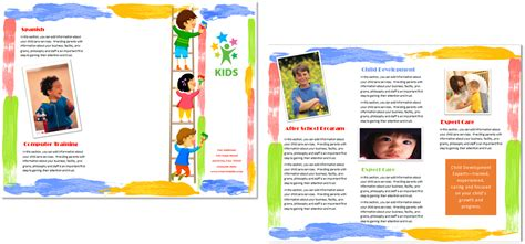 child care brochure template 10 child care owner